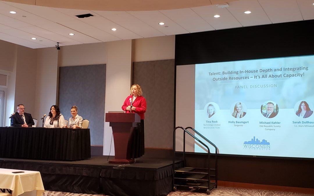 Tina Rock of Advanced Hires Moderates at Wisconsin IT Symposium