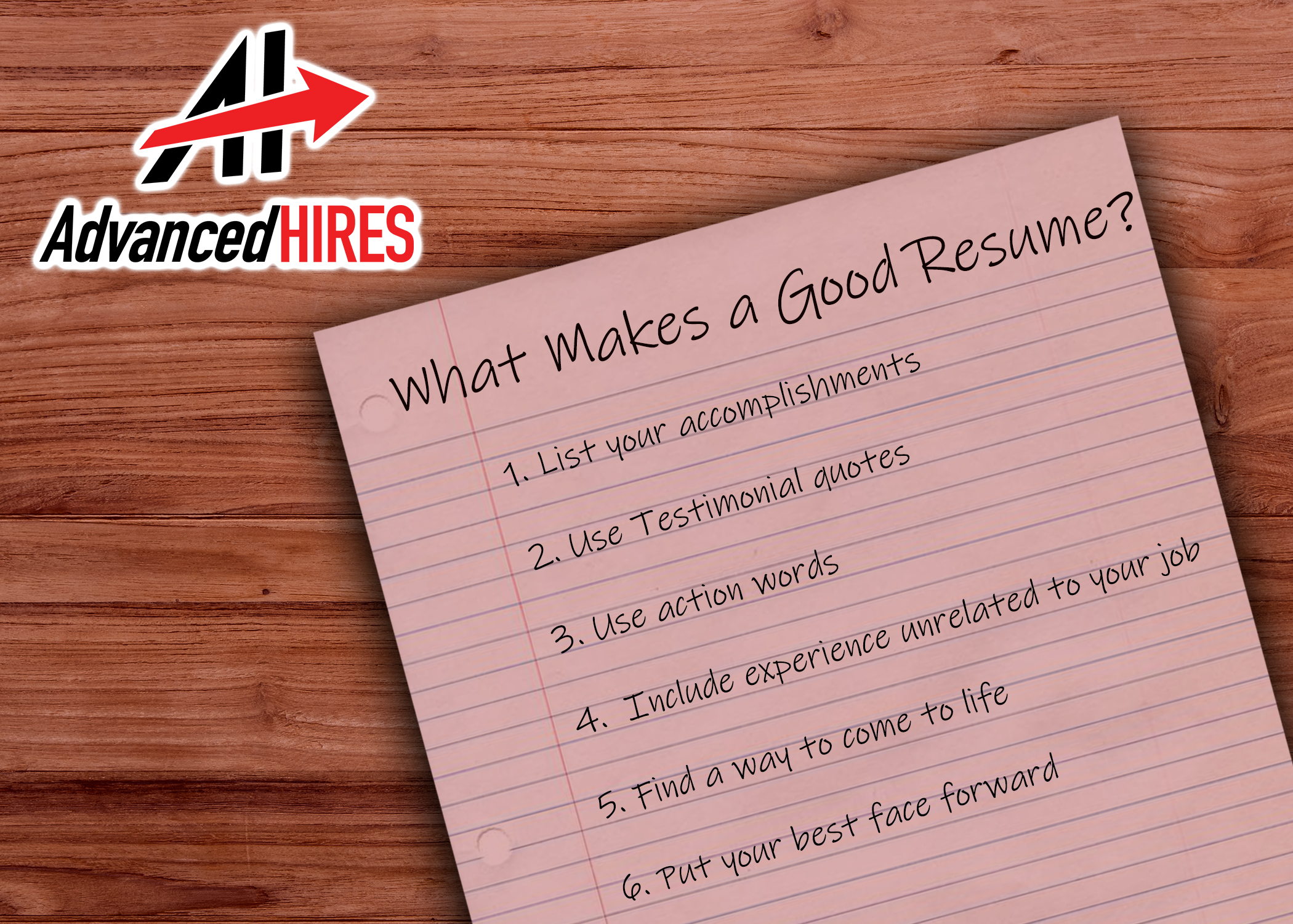 What Makes A Good Resume Advanced Hires